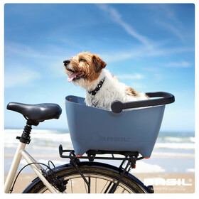 Basil Buddy Hundefahrradkorb für Gepäckträger faded denim